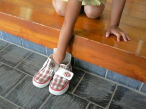 靴を揃える